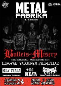 METAL FABRIKA: Bullets Of Misery + Holy Txala + Karmak + DC Data @ Gernika (Astra)