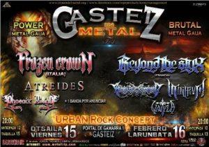 GASTEIZ IN METAL: Frozen Crown + Atreides + Phoenix Rising + Delion @ Vitoria - Gasteiz (Sala Urban Rock Concept)