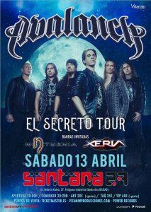 Avalanch + Nocturnia + Xeria @ Bilbao (Santana 27)