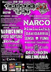 EHUNEKO BAT: NARCO + REINCIDENTES  + DAKIDARRÍA + SENSA YUMA + KARNE CRUDA + BRUTUS DAUGHTERS + MILENRAMA + DESORDEN @ Etxebarri, Bizkaia (Parque Bekosolo Parquea))