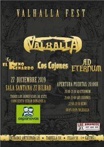 VALHALLA FEST: Valhalla + Ad Eternum + Los Cojones + El Reno Renardo @ Bilbao (Santana 27)