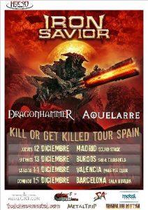 Iron Savior + DragonhammeR + Aquelarre @ Burgos (Sala Ciudadela)