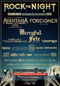 """ROCK THE NIGHT FESTIVAL: Volbeat / Foreigner / Mercyful Fate / Avantasia Devin Townsend / Skid Row / Doro Leprous / At The Gates """"Slaughter Of The Soul Show"""" / Heilung Beast In Black / Mgła / Loudness / Napalm Death FM official / Cirith Ungol / The Vintage Caravan / Tygers Of Pan Tang / Me And That Man / Dyscarnate / Angelus Apatrida / Stone Broken / Lèpoka Wormed / 91 Suite / Stravaganzza / Jinger / Mind Driller / Eternal Storm / Eon @ Madrid (Auditorio Miguel Ríos - Rivas Vaciamadrid)"""