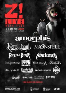 Z! LIVE ROCK FEST: Amorphis + Korpiklaani + Moonspell + Battle Beast + Avalanch + Leo Jiménez + Vita Imana + Legion Of The Damned + Debler + Morphium + Bloodhunter + Revolution Within + Hiranya + Arwen + Daeria + El Altar Del Holocausto + Next Step @ Zamora (Auditorio Ruta de la Plata)