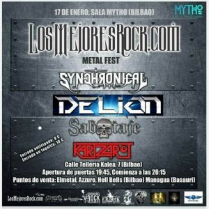 Synchronical + Delion + Sabtaje + Kartzarot @ Bilbao (Sala Mytho)