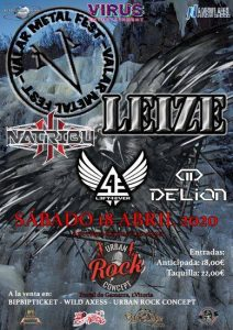 VALAR METAL FEST I:  LEIZE +  NATRIBU +  LEFT4EVERBAND + DELION @ Vitoria