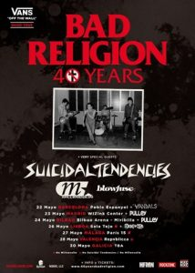 Bad Religion + Suicidal Tendencies + Millencolin + TBA + Blowfuse @ Bilbao (Bilbao Arena)