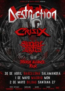 Destruction + Crisix + Suicidal Angels @ Bilbao (Santana 27)
