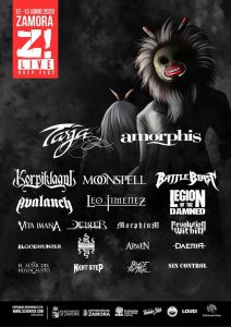 Z! LIVE ROCK FEST: Tarja + Amorphis + Korpiklaani + Moonspell + Battle Beast + Avalanch + Leo Jiménez + Vita Imana + Legion Of The Damned + Debler + Morphium + Bloodhunter + Revolution Within + Hiranya + Arwen + Daeria + El Altar Del Holocausto + Next Step + Blaze Of Trail + Sin Control @ Zamora (Auditorio Ruta de la Plata)